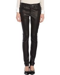 Saint Laurent Leather Jeans Black