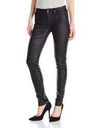 Mavi Jeans Mavi Adriana Midrise Super Skinny Jean In Black Coated