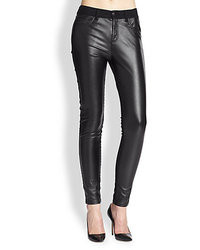 McQ by Alexander McQueen Mcq Alexander Mcqueen Faux Leather Panel Skinny Jeans