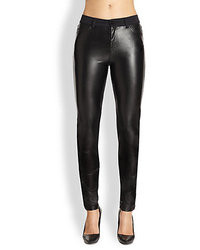 McQ by Alexander McQueen Mcq Alexander Mcqueen Faux Leather Paneled Skinny Jeans