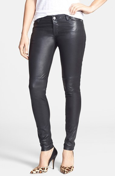 MICHAEL Michael Kors Michl Michl Kors Leather Skinny Jeans | Where ...
