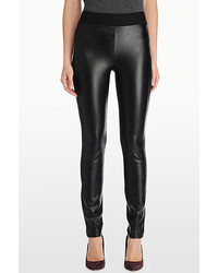 NYDJ Faux Leather Front Legging