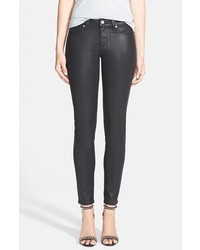 Paige Verdugo Coated Ultra Skinny Ankle Jeans