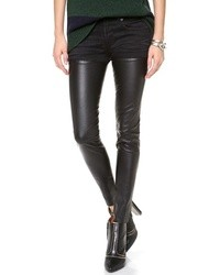 R 13 R13 Skinny Leather Chap Jeans