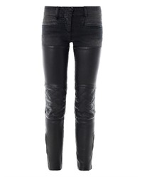 R13 Leather Chaps Mid Rise Skinny Biker Jeans