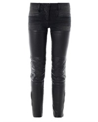 R 13 R13 Leather Chaps Mid Rise Skinny Biker Jeans