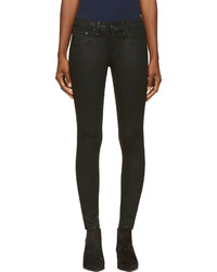 Rag and Bone Rag Bone Black Coated The Legging Jeans