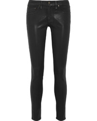 Rag & Bone The Legging Coated Mid Rise Skinny Jeans