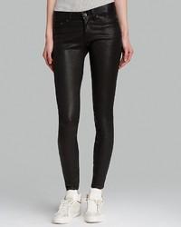 Rag and Bone Rag Bonejean Jeans The Leather Skinny In Washed Black