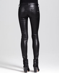 Rag and Bone Rag Bonejean The Skinny Leather Jeans Black | Where ...