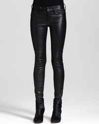 Rag and Bone Rag Bonejean The Skinny Leather Jeans Black