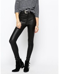 Only Royal High Waist Coated Skinny