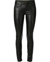 Saint Laurent Eco Leather Skinny Jeans