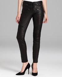 Hudson Jeans Shelby Moto Super Skinny Leather