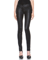 Alexander Wang T By Stretch Leather Jeans In Black