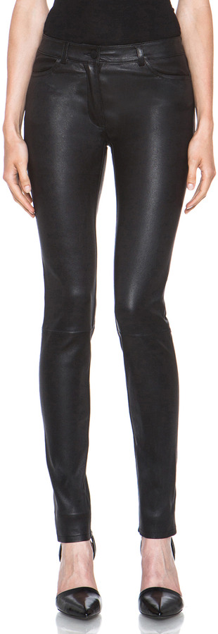 0eb3bec4d1e7 Alexander Wang T By Stretch Leather Jeans In Black