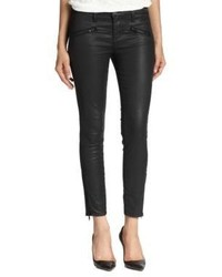 Current/Elliott The Coated Soho Zip Stiletto Skinny Jeans