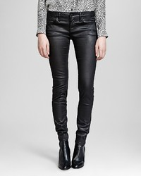The Kooples Jeans Faux Leather In Black