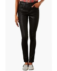 Topshop Moto Leigh Coated Skinny Jeans