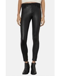 Topshop Moto Leigh Faux Leather Front Skinny Jeans