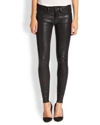 True Religion Halle Leather Super Skinny Jeans
