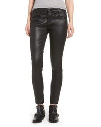 Ag the legging ankle skinny faux leather pants medium 6465296