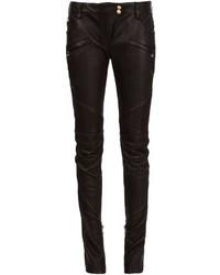 Balmain Leather Biker Trousers
