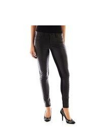 Bisou Bisou Quilted Faux Leather Front Pants