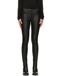 Mackage Black Leather Skinny Trousers