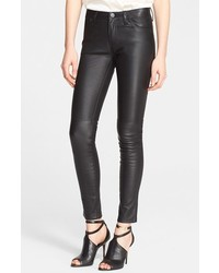 Burberry Brit Five Pocket Skinny Leather Pants