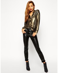 Asos Collection Skinny Pants In Leather Look