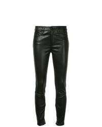 Nobody Denim Cult Skinny Ankle Zip Black Leather
