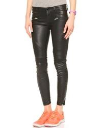 Blank Denim Black Vegan Leather Moto Pants