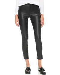 Denim the principle mid rise vegan leather skinny pants medium 529386