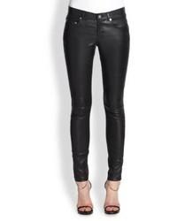 Saint Laurent Faux Leather Five Pocket Pants