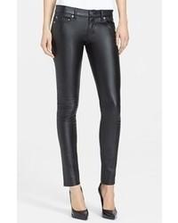 Saint Laurent Faux Leather Skinny Pants