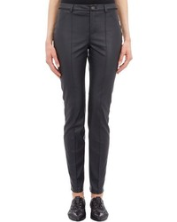 Lanvin Faux Leather Slim Fit Pants Black