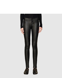 Gucci Black Stretch Leather Legging