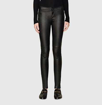 41d852bd45872 Gucci Black Stretch Leather Legging, $1,995 | Gucci | Lookastic.com