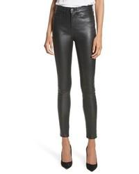 Veronica Beard Kate Lambskin Leather Pants