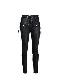 Unravel Project Lace Up Biker Jeans