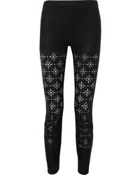 Haider Ackermann Laser Cut Leather Slim Leg Pants