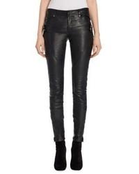 Alexander McQueen Leather Biker Pants