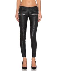 Anine Bing Leather Biker Pants