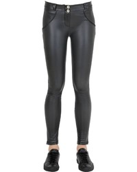 Freddy Leather Effect Wrup Skinny Pants