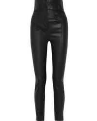 Haider Ackermann Leather Skinny Pants Black
