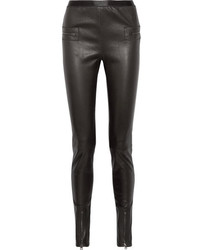 Tom Ford Leather Skinny Pants Black