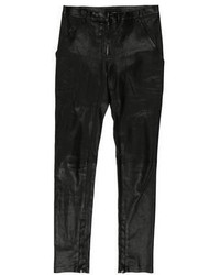The Row Leather Skinny Pants