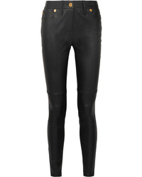 Versace Leather Skinny Pants