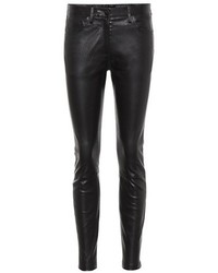 The Row Leather Skinny Trousers